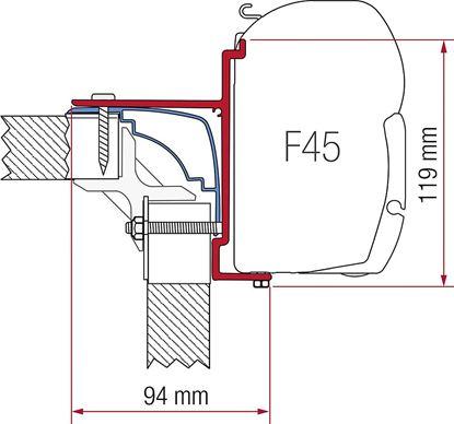 Adapter Bürstner/Laika Ecovip, komplet