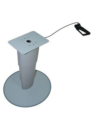 Dvižna miza z eno nogo PRIMERO COMFORT HPG barva srebrno-siva
