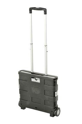 Zložljiv kovček na koleščkih, sivo-črn