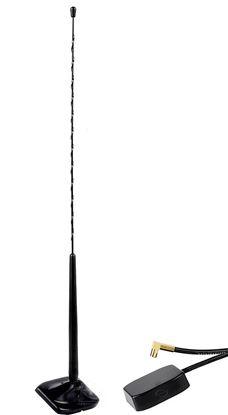 Aktivna DAB+ zunanja antena za pritrditev na steklo
