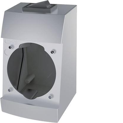 Integro-Box s šuko vtičnico krom mat