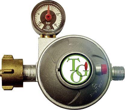 Plinski regulator z varnostnim ventilom in manometrom (1,5 kg/h)