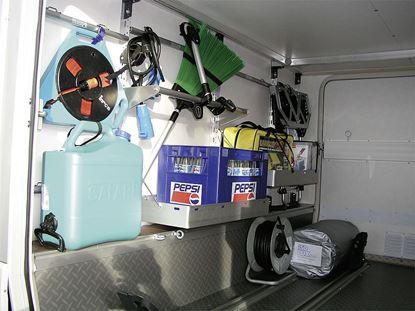 Regalni sistem za garaže v zadnjem delu vozila - osnovni modul