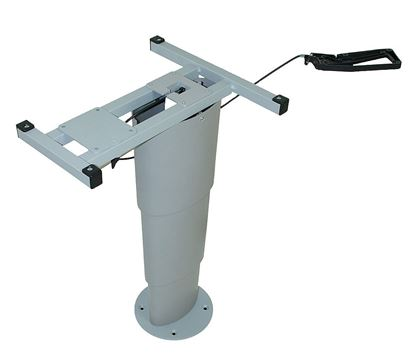 Enostebrna teleskopska miza Primero Comfort HSK, srebrno siva