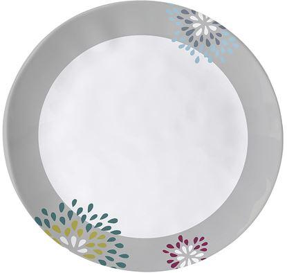 Desertni krožnik Belfiore, premer 20 cm bel/moder/siv