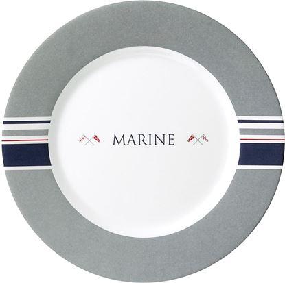 Desertni krožnik Marine, premer 21 cm siv/bel