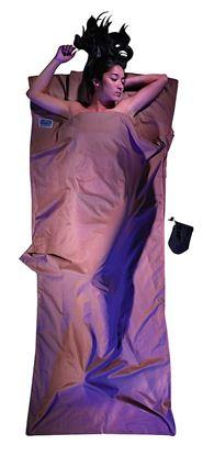 Lahka potovalna spalna vreča 220 x 90 cm kaki, egipčanski bombaž