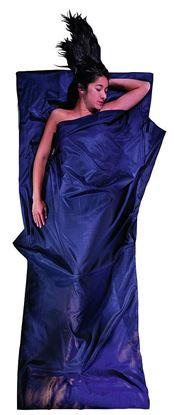 Lahka potovalna spalna vreča 220 x 90 cm tuareška svila / bombaž