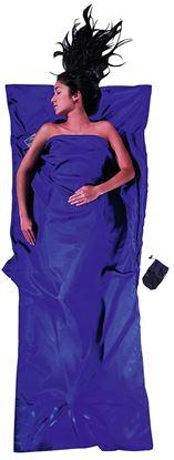 Lahka potovalna spalna vreča 220 x 90 cm svila Ultramarine Blue