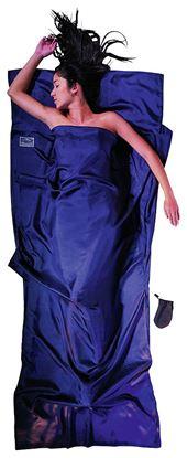 Lahka potovalna spalna vreča 200 x 90 cm tuareška svila ripstop