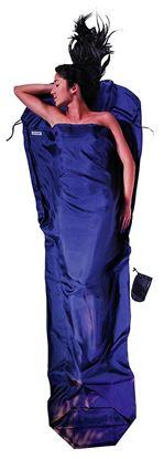 Lahka potovalna spalna vreča oblika mumije, 241 x 90/56 cm tuareška svila / ripstop