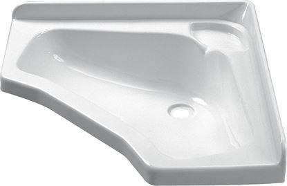 Kotni umivalnik, bel, 440 x 440 mm
