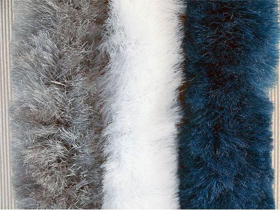 Super mehka zavesa za vhodna vrata,  modra/bela/siva